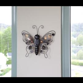 Solcelledekoration Butterfly , hemmetshjarta.dk