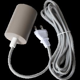 Lamphållar E27 Slim Beige 3,5m , hemmetshjarta.dk