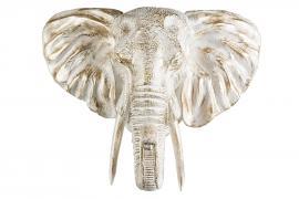 Elefanthode/Vegg 56 cm - vit/Gull , hemmetshjarta.dk