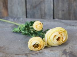 Fleur Ranunkel H71 cm gul , hemmetshjarta.dk