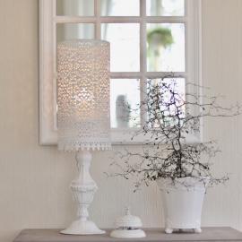 Lanterne til Bloklys - antik hvid , hemmetshjarta.dk