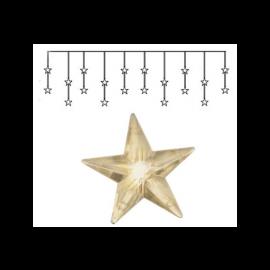 Dekorationskæde EL Lysgardin Star Varmhvid 20 Lys 180x40cm , hemmetshjarta.dk