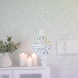 Hengende Lanterne Noah - antik hvid , hemmetshjarta.dk