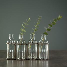 Flasker M. Stativ Antik Messing 36x8x12,5cm , hemmetshjarta.dk