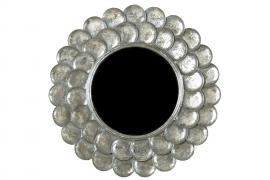 Spejl rund sølv 75cm , hemmetshjarta.dk