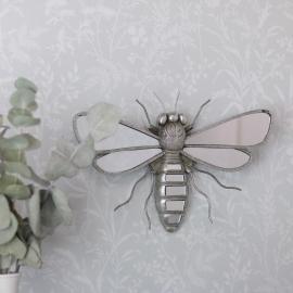 Spejl insekt Sølv Poly 33x21x5cm , hemmetshjarta.dk