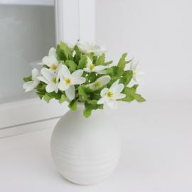 Kunstig .Hvid anemone 18 cm , hemmetshjarta.dk