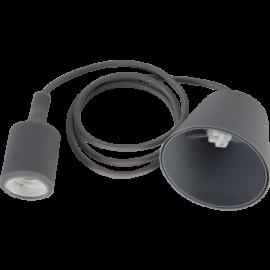 Lamphållar E27 Color Grå 1,2m med Tagkop , hemmetshjarta.dk