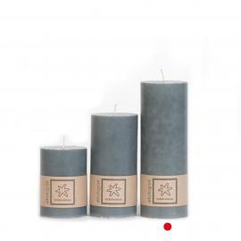 Bloklys Økologisk Dark Grey 100% stearin 7x20 , hemmetshjarta.dk