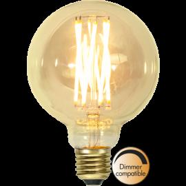 LED-Pære E27 Vintage Gold G95 Dim , hemmetshjarta.dk