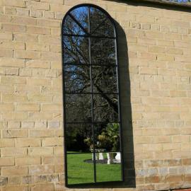 Spejl med sprosser 165 cm - antik sort , hemmetshjarta.dk