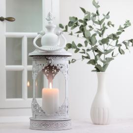 Lanterne Lucerna Antik - antik hvid 15x40cm , hemmetshjarta.dk