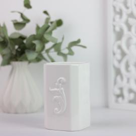hvid Lilje Tandbørste kop , hemmetshjarta.dk