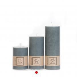 Bloklys Økologisk Dark Grey 100% stearin 7x15 , hemmetshjarta.dk