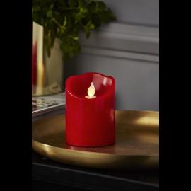 Batteridrevet Bloklys LED M-Twinkle Rød 7,5x10cm , hemmetshjarta.dk