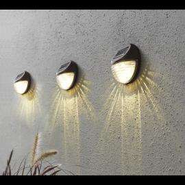 Solcelle væglampe Fency 3-pack , hemmetshjarta.dk