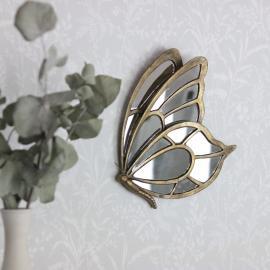 Spejl Sommerful 26 cm - antik guld , hemmetshjarta.dk