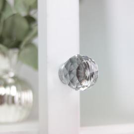 Knop Diamant rund top 7,5x4 cm , hemmetshjarta.dk