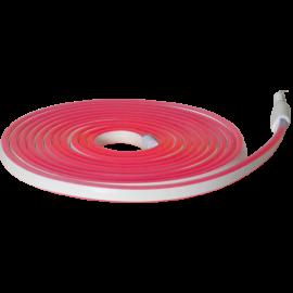 Lysslange FlatNeonLED Udendørs Rød 480 lys 500cm , hemmetshjarta.dk