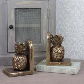 Bokstøtte / ananas gull Poly 12x17cm 1-par , hemmetshjarta.dk