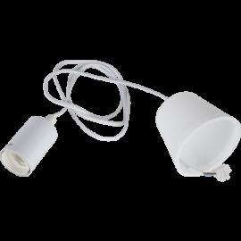 Lamphållar E27 Stil Hvid 1,5m med Tagkop , hemmetshjarta.dk