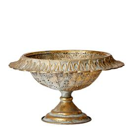 Skål CHANTAL 35x20 cm - antik guld , hemmetshjarta.dk