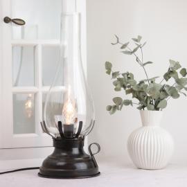Lampe El 42 cm - Antikbrun , hemmetshjarta.dk