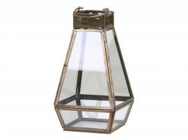 Lanterne m. dekor kant H22/L12/B12 cm antique messing , hemmetshjarta.dk