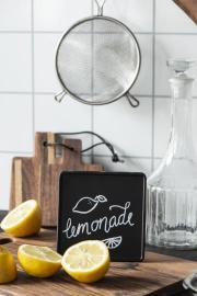 Black board metal firkant , hemmetshjarta.dk