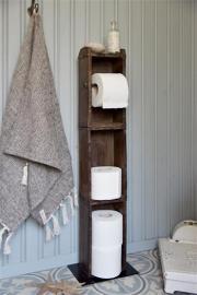 Murstensform Toiletpapirholder gulv H95 / L15 / W10 cm naturlig , hemmetshjarta.dk