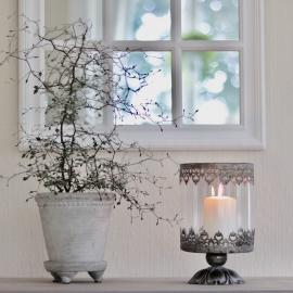 Lanterne på fod Tindra - gyldenbrun , hemmetshjarta.dk