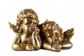 Engel Børn Guld Poly 18x10x7cm , hemmetshjarta.dk