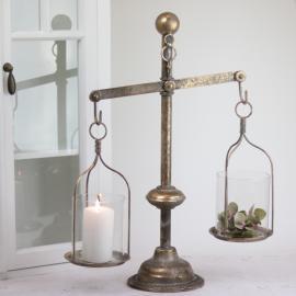 Vægt Lanterne/vase - guld brun , hemmetshjarta.dk