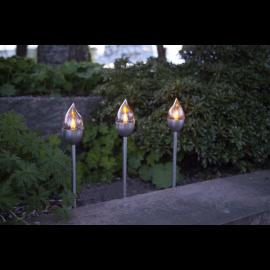 Solcellelampe stolpe Olympus 3-pack , hemmetshjarta.dk