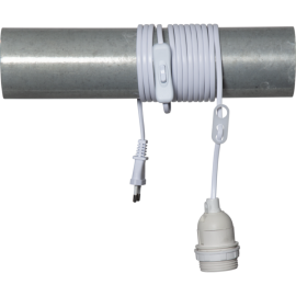 Lamphållar E27 Basic Hvid 3,5m , hemmetshjarta.dk
