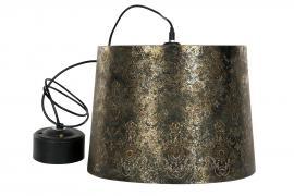 Loftlampe Barock Sort/G Patina 35x29cm , hemmetshjarta.dk