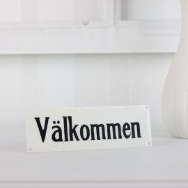 Emaljeskilt Välkommen , hemmetshjarta.dk