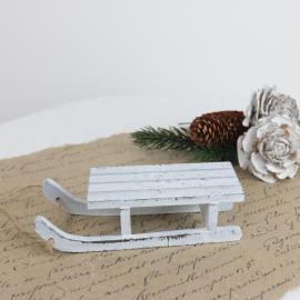 Kælk i træ 12,5 cm - antik hvid , hemmetshjarta.dk