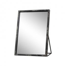Spejl industri H29 / L21.5 / B12,5 cm antik sort , hemmetshjarta.dk