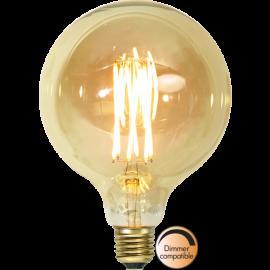 LED-Pære E27 Vintage Gold G125 Dim , hemmetshjarta.dk