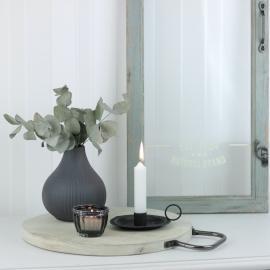 Bakke med håndtag i metal 36 cm , hemmetshjarta.dk