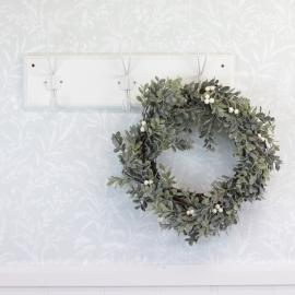 Krans rimfrostblade og bær 35cm , hemmetshjarta.dk