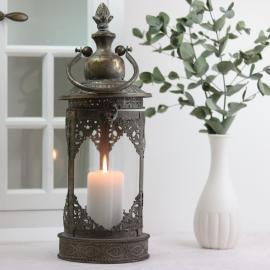 Lanterne Lucerna Antik - guld brun 15x40cm , hemmetshjarta.dk
