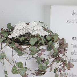 Englevinger/Stick Antik hvid 2-pack , hemmetshjarta.dk
