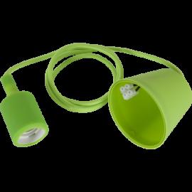 Lamphållar E27 Color Grøn 1,2m med Tagkop , hemmetshjarta.dk