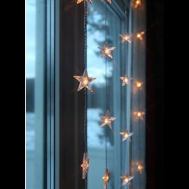 Dekorationskæde EL Lysgardin Star Varmhvid 30 Lys 90x120cm , hemmetshjarta.dk