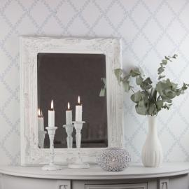 Spejl Antik 53x42 cm - antik hvid , hemmetshjarta.dk