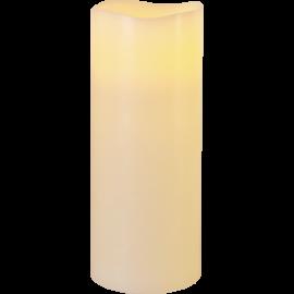Batteridrevet Bloklys LED Big Elfenben 10x25cm , hemmetshjarta.dk