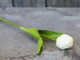 Fleur Tulipan H47 cm hvid , hemmetshjarta.dk