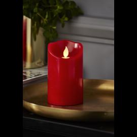 Batteridrevet Bloklys LED M-Twinkle Rød 7,5x12,5cm , hemmetshjarta.dk